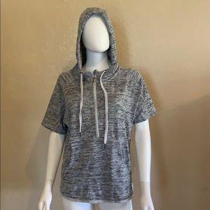 Gray ATHLETA Pullover Short Sleeve Hoodie Shirt XS